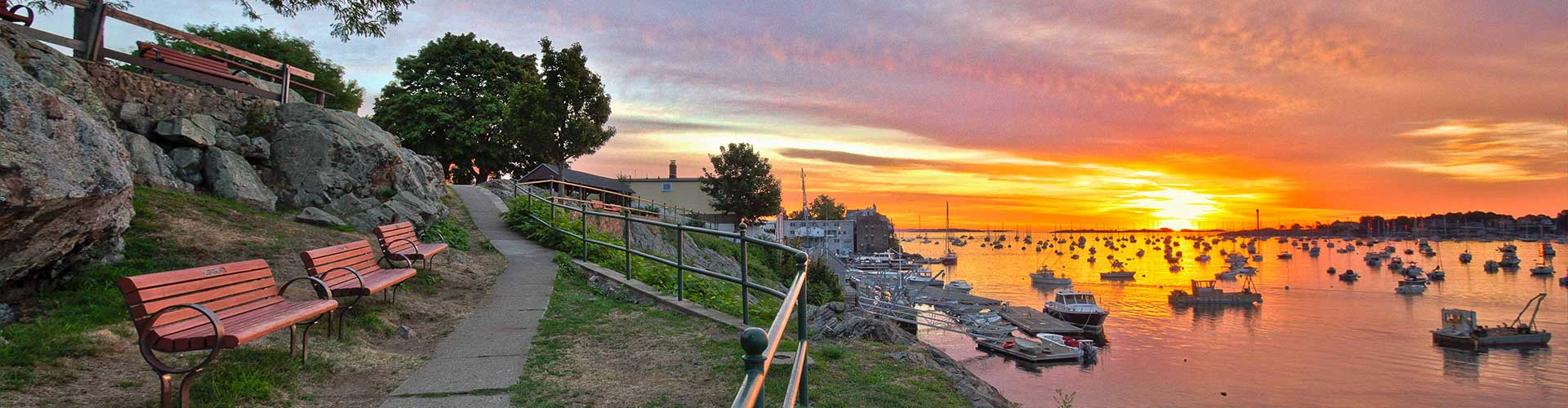 Marblehead First Sunrise at Hammond Park by Mike Porter
